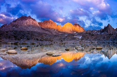 Dusk On The Palisades In Dusy Basin, Kings Canyon National Park art print by Russ Bishop / DanitaDelimont for $68.75 CAD