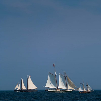 Three Schooners Sailing In Cape Ann art print by Walter Bibikow for $53.75 CAD