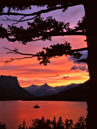 St Mary Lake And Wild Goose Island At Sunset art print by Jaynes Gallery / Danita Delimont for $55.00 CAD
