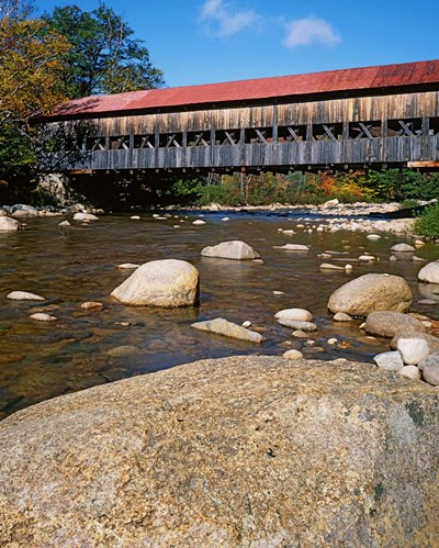 Albany Covered Bridge, Swift River, White Mountain National Forest, New Hampshire art print by Charles Gurche / Danita Delimont for $87.50 CAD