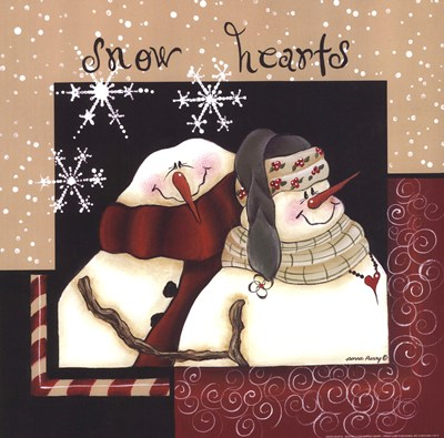 Snow Hearts art print by Bonnee Berry for $16.25 CAD