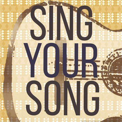 Sing Your Song art print by Crockett for $16.25 CAD