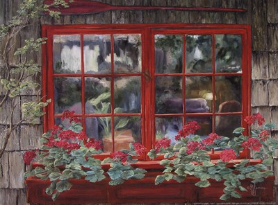 Window with Flowers I art print by Georgia Janisse for $18.75 CAD
