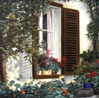 Window with Flowers II art print by Georgia Janisse for $15.00 CAD