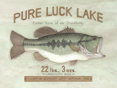 Pure Luck Lake art print by Kathy Jennings for $20.00 CAD