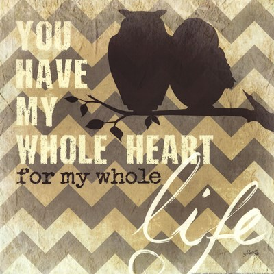 Whole Heart art print by Marla Rae for $16.25 CAD