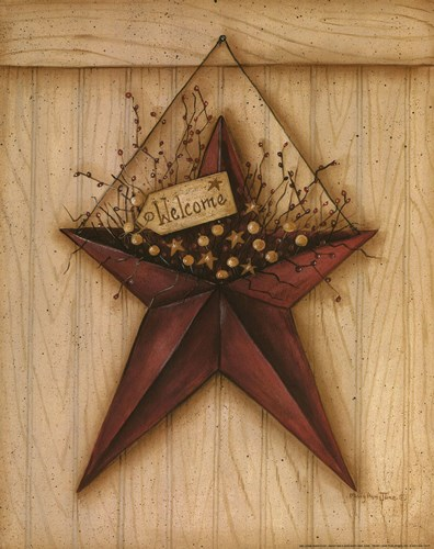 Welcome Barn Star art print by Mary Ann June for $16.25 CAD