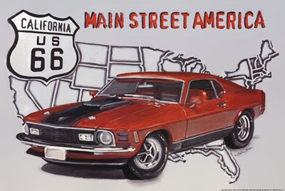 Main Street America art print by Sheila Elsea for $21.25 CAD