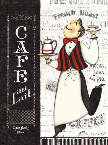 Cafe Waiter art print by Sydney Wright for $20.00 CAD