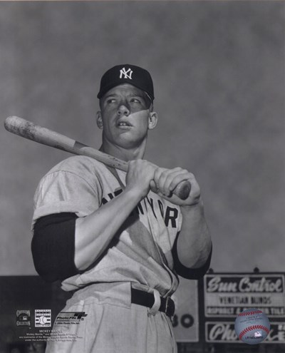 Mickey Mantle- With bat looking towards his right art print by Unknown for $21.25 CAD