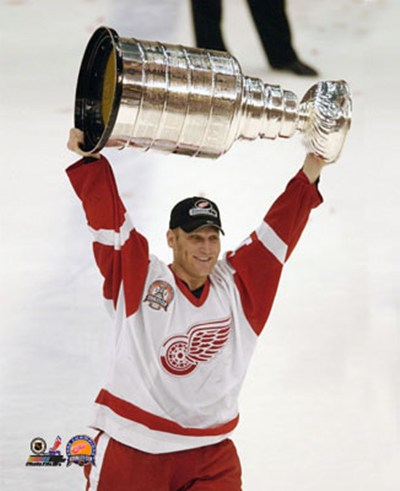 Brett Hull with the 2002 Stanley Cup #10 art print by Unknown for $21.25 CAD