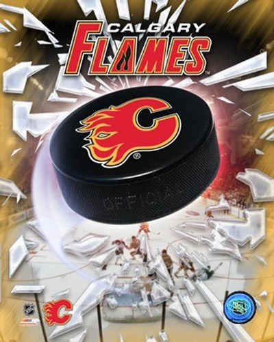 Calgary Flames 2005 - Logo / Puck art print by Unknown for $21.25 CAD
