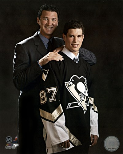 2005 - Sidney Crosby / Mario Lemieux Draft Day art print by Unknown for $21.25 CAD