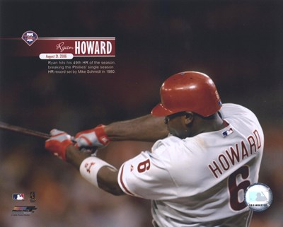 Ryan Howard - 2006 49th Home Run with Overlay art print by Unknown for $21.25 CAD