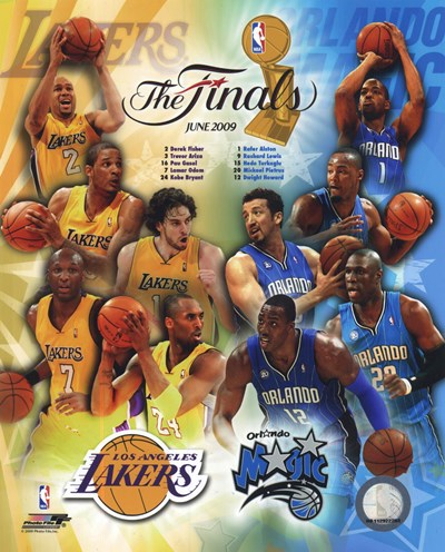 '09 NBA Finals Match Up - Lakers / Magic art print by Unknown for $21.25 CAD