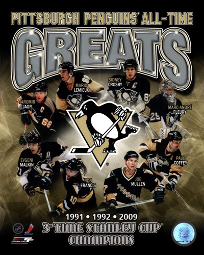 Pittsburgh Penguins All-Time Greats Composite art print by Unknown for $21.25 CAD