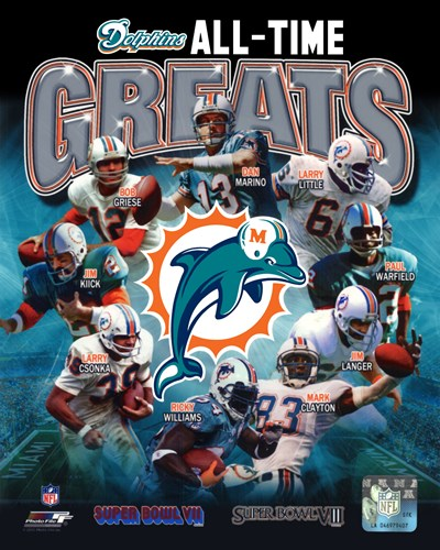 Miami Dolphins All Time Greats Composite art print by Unknown for $21.25 CAD