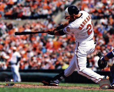 Nick Markakis 2013 Batting art print by Unknown for $21.25 CAD
