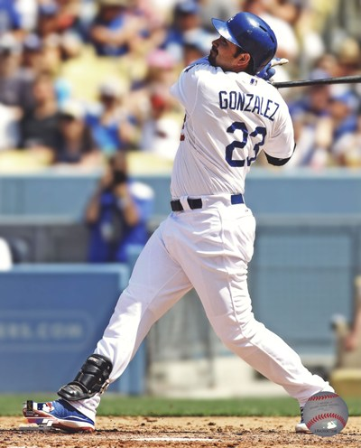 Adrian Gonzalez 2013 Action art print by Unknown for $21.25 CAD