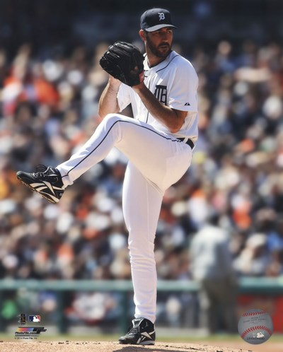 Justin Verlander 2014 pitching art print by Unknown for $21.25 CAD