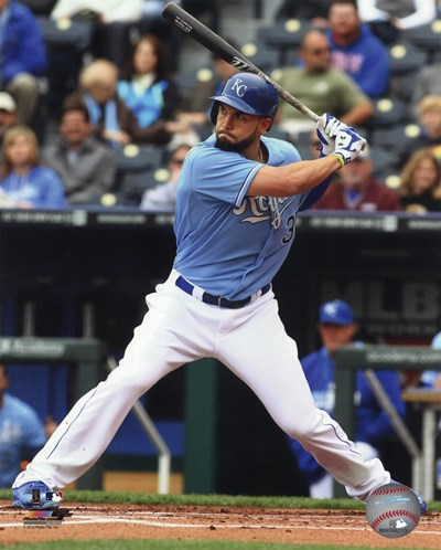 Eric Hosmer Baseball Hitting Pose art print by Unknown for $21.25 CAD