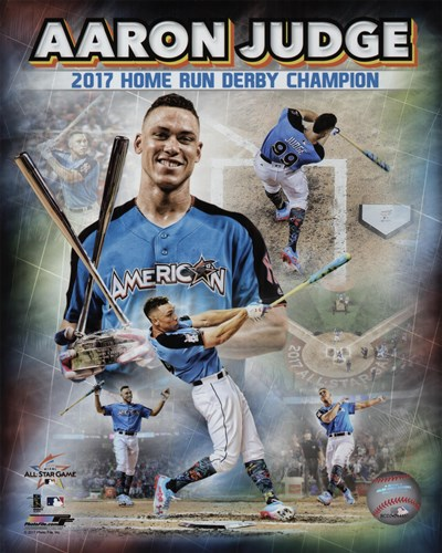 Aaron Judge 2017 Home Run Derby Champion Composite  88th MLB All-Star Game art print by Unknown for $13.75 CAD