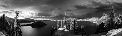 Crater Lake Black & White art print by Duncan for $38.75 CAD