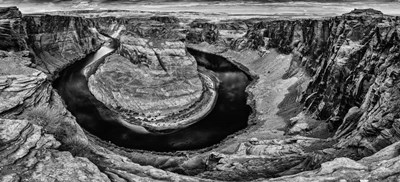 Horshoe Bend Black & White art print by Duncan for $35.00 CAD