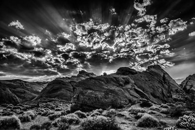 Valley Of Fire 2 Black & White art print by Duncan for $43.75 CAD