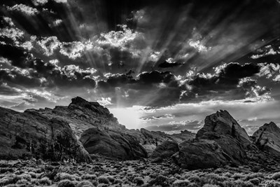 Valley Of Fire 3 Black & White art print by Duncan for $43.75 CAD
