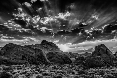 Valley Of Fire 4 Black & White art print by Duncan for $43.75 CAD