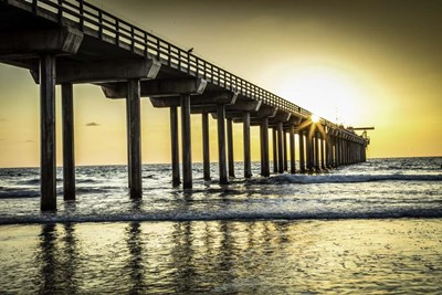 Cali Pier art print by Duncan for $43.75 CAD