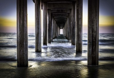 Cali Pier Sunset art print by Duncan for $45.00 CAD