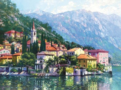 Reflections of Lake Como art print by Howard Behrens for $95.00 CAD