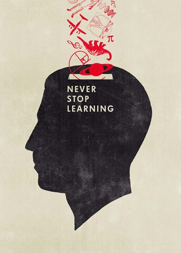 Never Stop Learning art print by Hannes Beer for $55.00 CAD