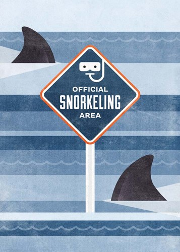 Official Snorkeling Area art print by Hannes Beer for $55.00 CAD
