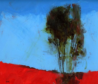 Cyan and Red art print by Paul Bailey for $72.50 CAD
