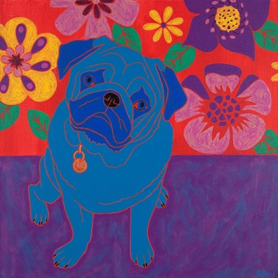 Perspicacious Pug art print by Angela Bond for $56.25 CAD