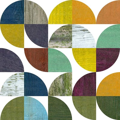 Rustic Rounds 3.0 art print by Michelle Calkins for $48.75 CAD