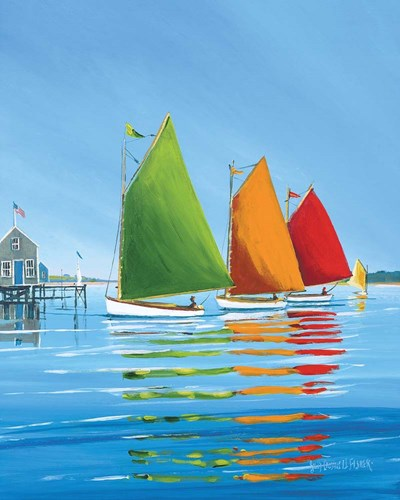 Cape Cod Sail art print by Sally Caldwell-Fisher for $40.00 CAD