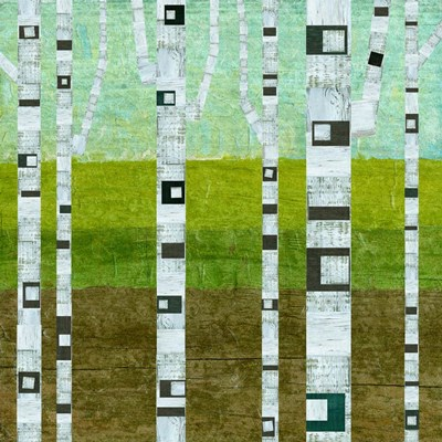 Summer Birches art print by Michelle Calkins for $56.25 CAD