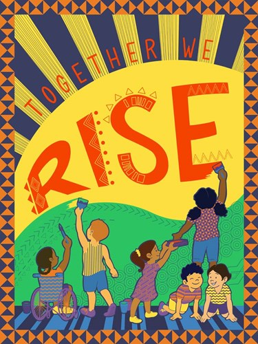 Together We Rise art print by Kris Duran for $53.75 CAD