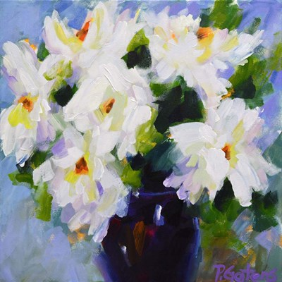 White Peony Bouquet art print by Pamela Gatens for $56.25 CAD