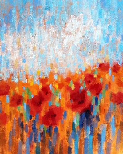 Poppy Walk art print by Claire Hardy for $40.00 CAD