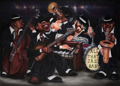 All That Jazz, Baby! art print by Leonard Jones for $46.25 CAD