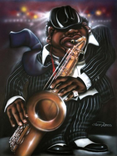 Jazzman Moe art print by Leonard Jones for $41.25 CAD