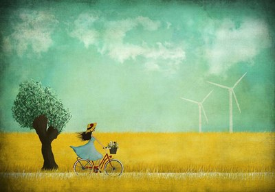 Bike Ride art print by Maja Lindberg for $45.00 CAD