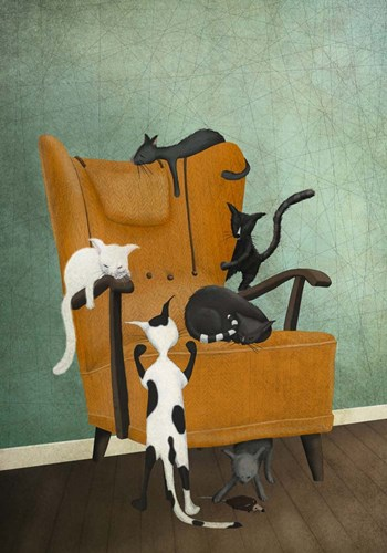 Catlife art print by Maja Lindberg for $42.50 CAD