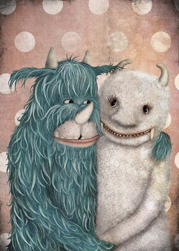 Monster Love art print by Maja Lindberg for $42.50 CAD