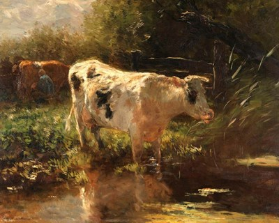 Cow Beside a Ditch, c. 1885-1895 art print by Willem Maris for $56.25 CAD